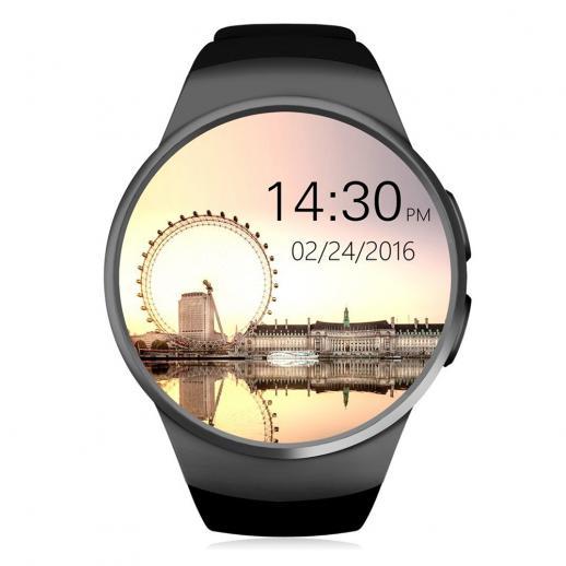 Kingwear KW18 Smartwatch Bluetooth 4.0 Pulsmesser - Schwarz