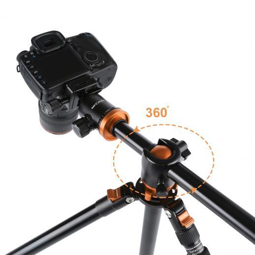 TM2534T Orange Aluminium Kamerastativ Fotostativ Reisestativ Einbeinsativ-Funktion Kugelkopf