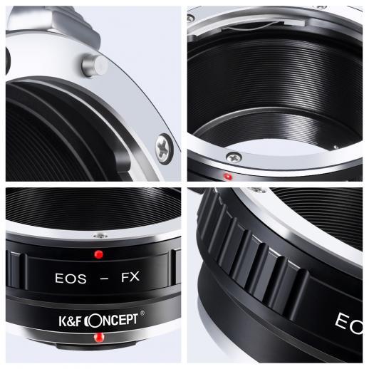 Canon EOS EF Objektiv auf Fuji X Mount Kamera Adapter