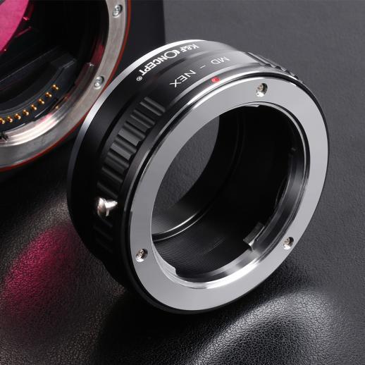 Minolta MD Objektiv auf Sony E Mount Kamera Adapter