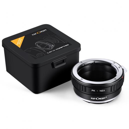 Pentax K Objektiv auf Sony E Mount Kamera Adapter