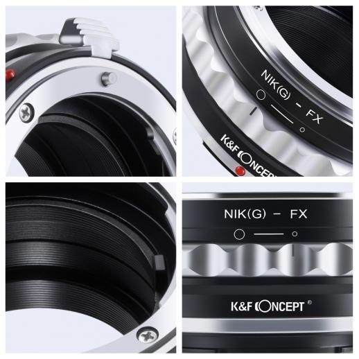 Nikon G/F/AI/AIS/D Objektiv auf Fuji X Mount Kamera Adapter