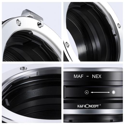 Minolta A / Sony A Objektiv auf Sony E Mount Kamera Adapter