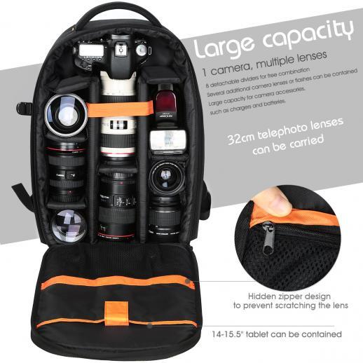 """Kamerarucksack Fotorucksack Spiegelreflex DSLR 10.24""""*5.51""""*16.54"""""""