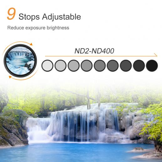 67mm ND2-ND400 Variable ND Graufilter